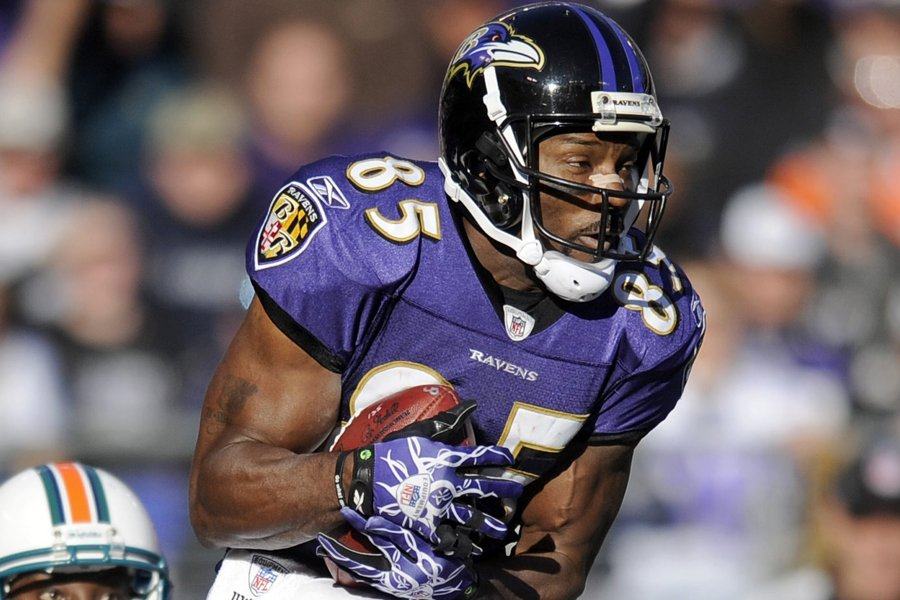 Derrick Mason dans l'uniforme des Ravens de Baltimore... (Photo: AP)