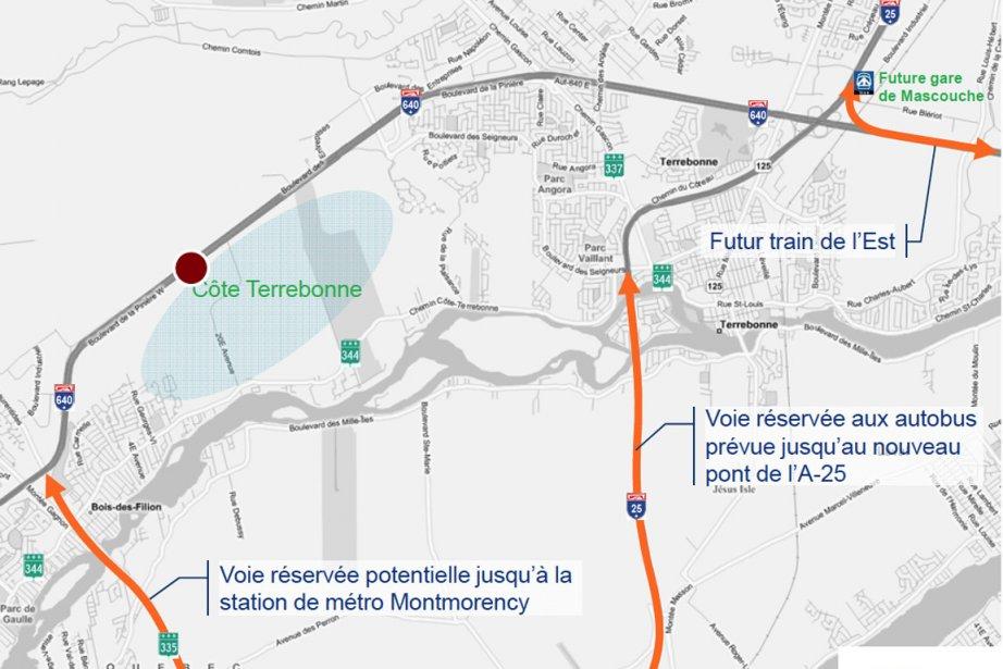 L'illustration démontre la position géographique du «projet de... (Image extraite du document Urbanova)