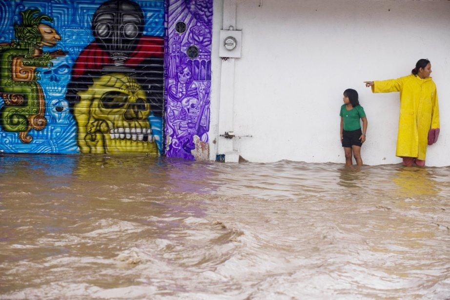 Les vents et les pluies qui ont frappé... (Photo: Alfredo Estrella, AFP)