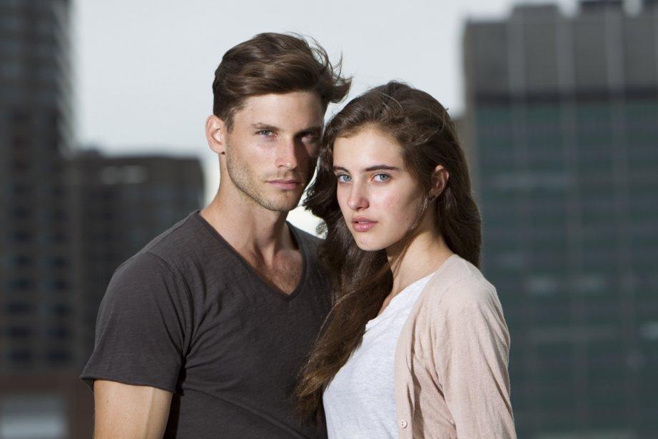 Les mannequins Samuel T. et Catherine Déa... (Photo: Hugo-Sébastien Aubert, La Presse)