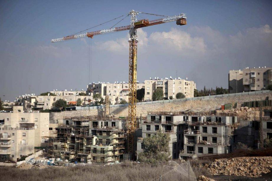 Ce nouveau projet de constructions israéliennes à Jérusalem-Est... (Photo: Menahem Kahana, Archives AFP)