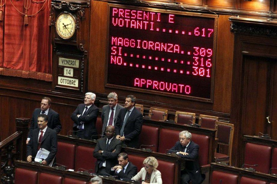 La motion de confiance a été votée par... (Photo: Alessandro Bianchi, Reuters)