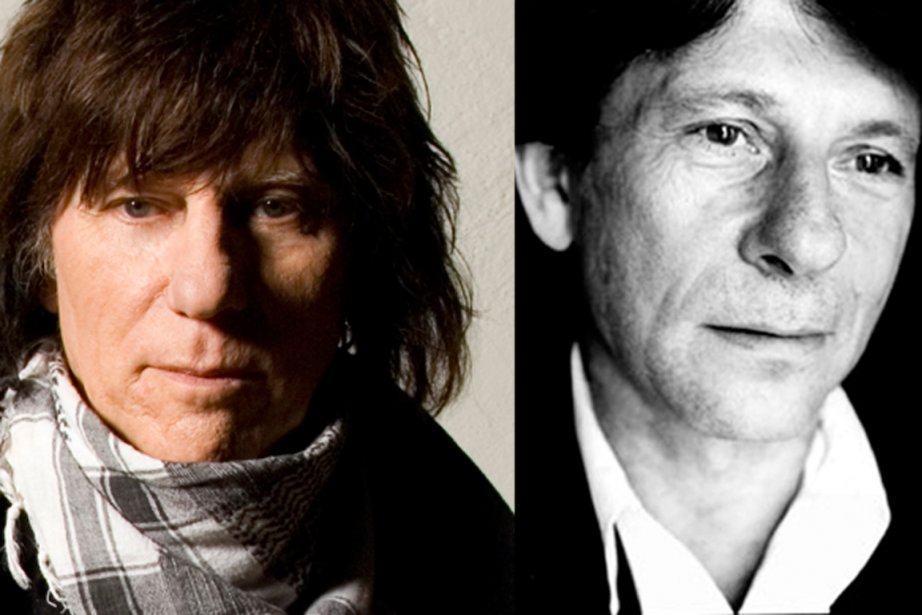 Le guitariste britannique Jeff Beck (à gauche) et...