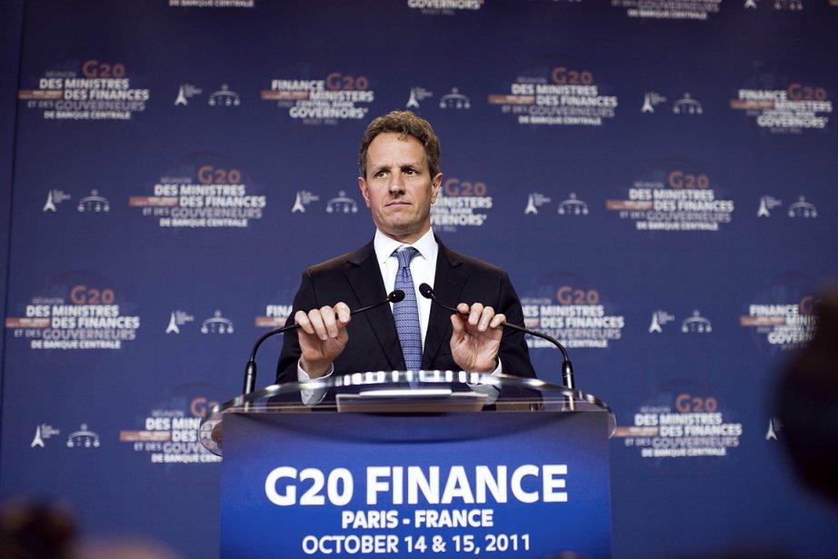 Le secrétaire américain au Trésor Timothy Geithner, lors... (Photo: AFP)