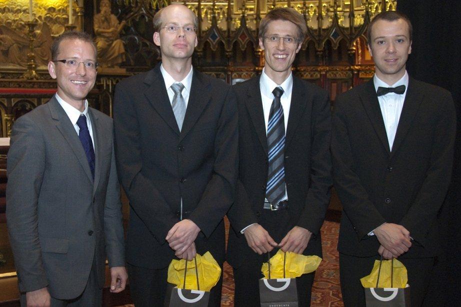 Les principaux lauréats du Concours international d'orgue du... (Photo fournie par Martin Boucher Communications)
