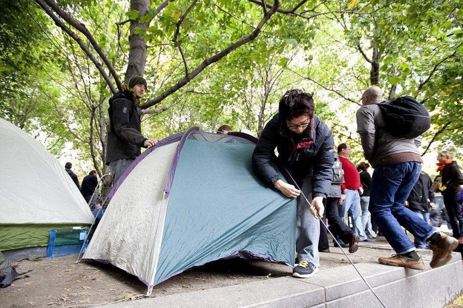 Un mois après s'être installé à Wall Street,... (Photo: Marco Campanozzi, La Presse)