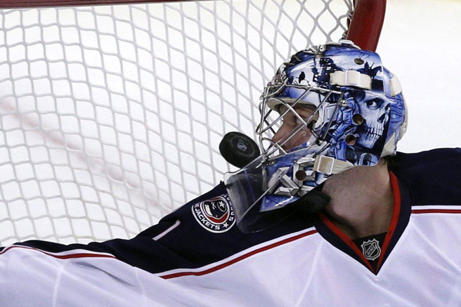 Le gardien des Blue Jackets, Steve Mason.... (Photo: AP)