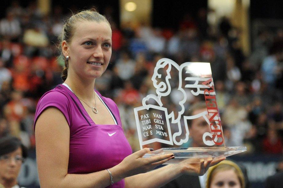 Mais, de nouveau, Kvitova assurait son ascendant avec... (Photo: AFP)