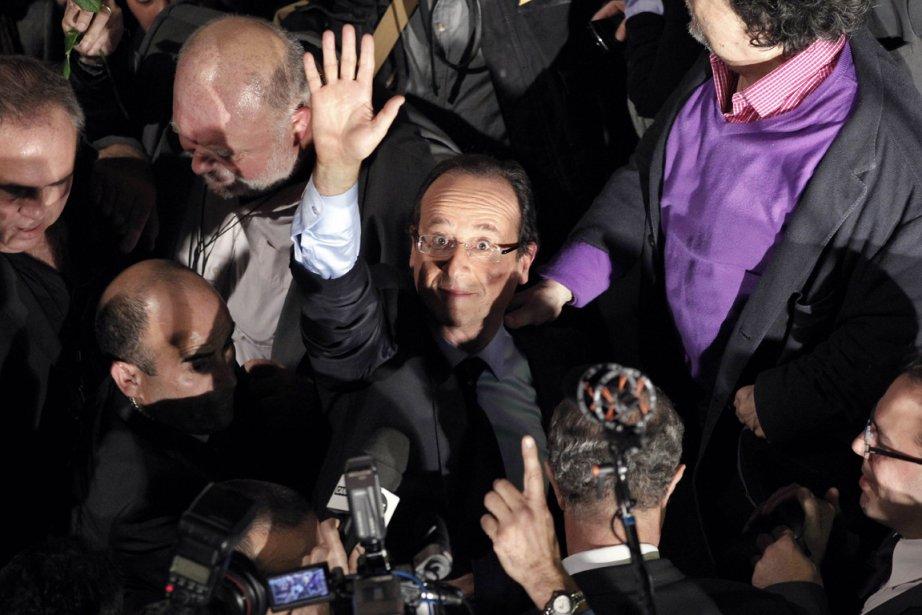 François Hollande célèbre sa victoire.... (Photo: AFP)