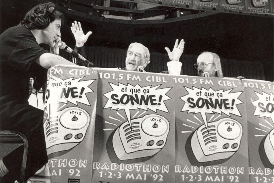 Michel Chartrand et Jim Corcoran lors d'un radiothon... (Photo: Archives CIBL)
