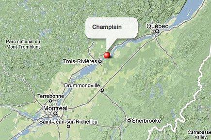 La municipalité de Champlain, en Mauricie.... (maps.google.ca)