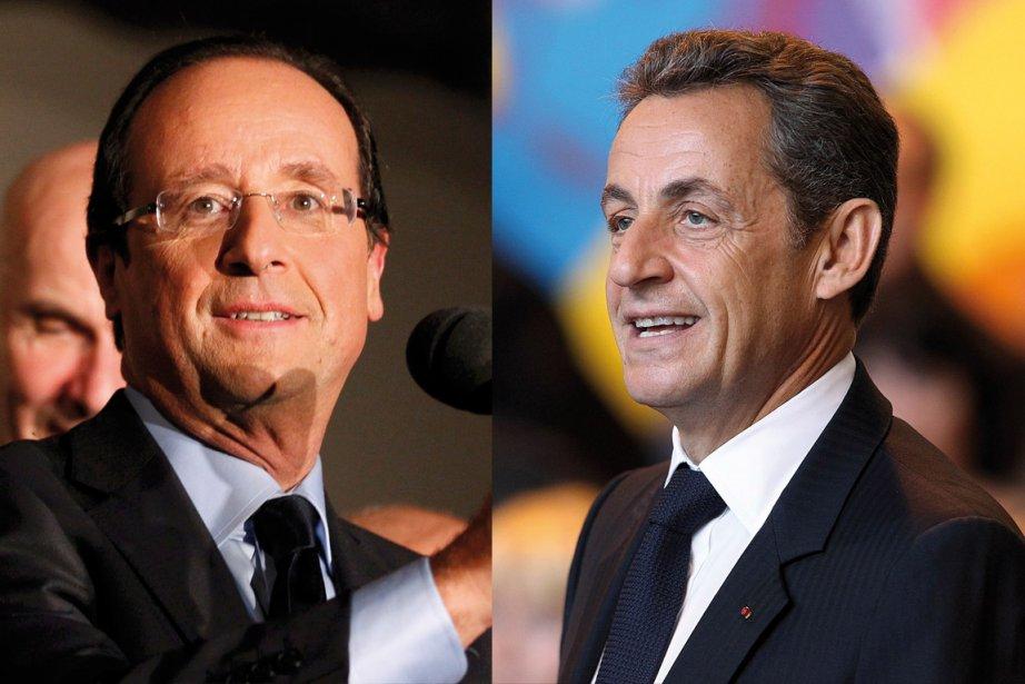 À gauche, le candidat socialiste François Hollande est... (Photos: Reuters, Montage: La Presse)