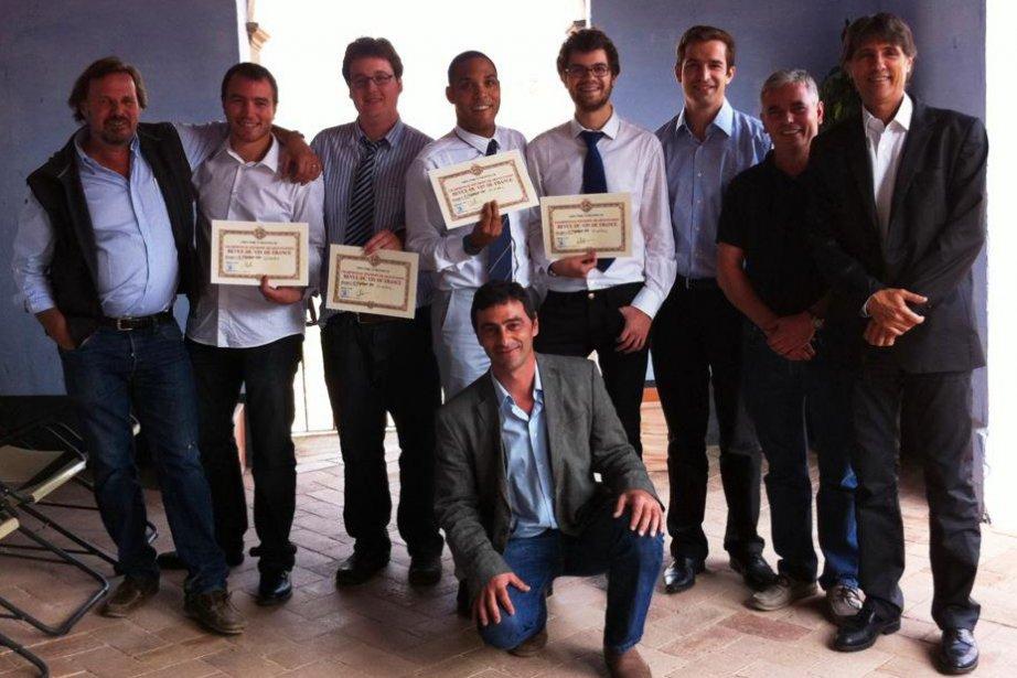 Peter Fischer, Alexandre Savoie, Julien Guay, Sébastien Burel,... (Photo: fournie par Alexandre Savoie)