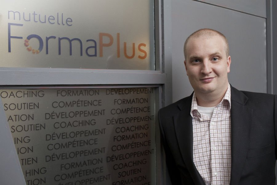 Mathieu Senécal, de FormaPlus, aide les entreprises à... (Photo Edouard Plante-Fréchette, La Presse)
