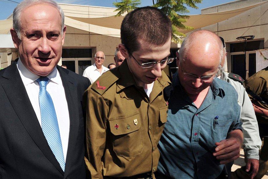 La  libération du soldat israélien Gilad Shalit... (Photo: AFP)