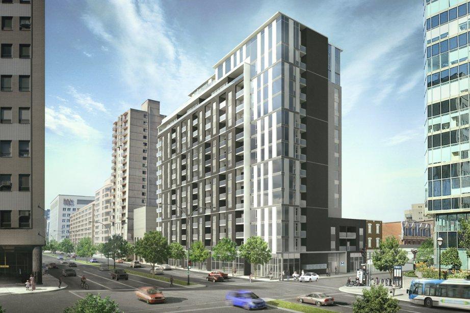 Le Metropol, qui comptera 15 étages, s'élèvera en... (illustration fournie par Samcon)