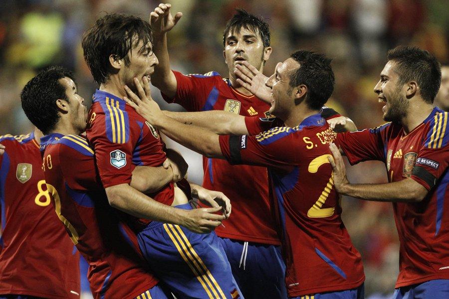 L'Espagne, championne du monde et d'Europe, est restée au... (Photo: Reuters)