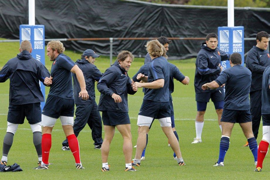 Les joueurs de l'équipe de France se sont... (Photo: Christophe Ena, AP)