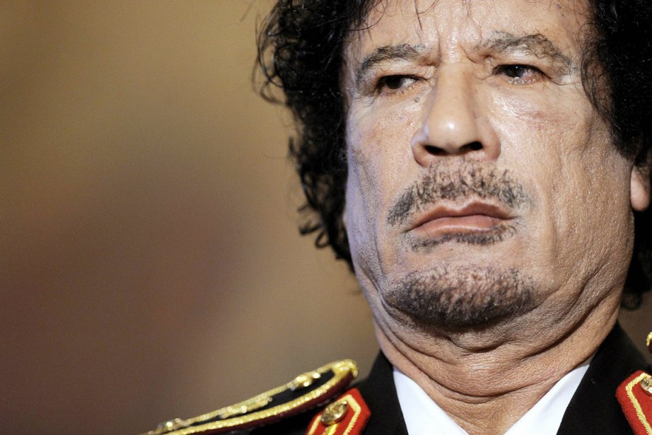 Le colonel Mouammar Kadhafi.... (Photo: Filippo Monteforte, Archives AFP)