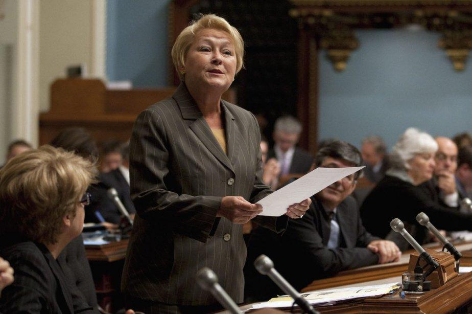 Pauline Marois a exhorté le premier ministre à... (Photo: Jacques Boissinot, PC)