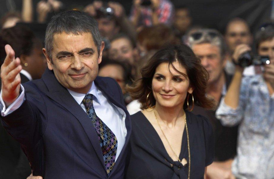 Rowan Atkinson et son épouse Sunetra. | 27 juillet 2012