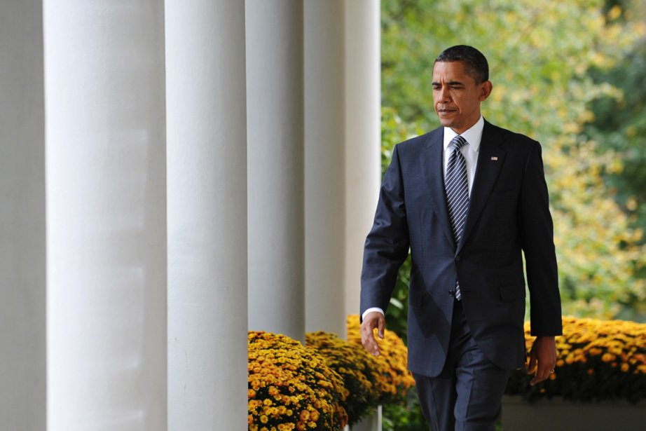 L'action du président Obama est approuvée en moyenne... (Photo: Mandel Ngan, AFP)