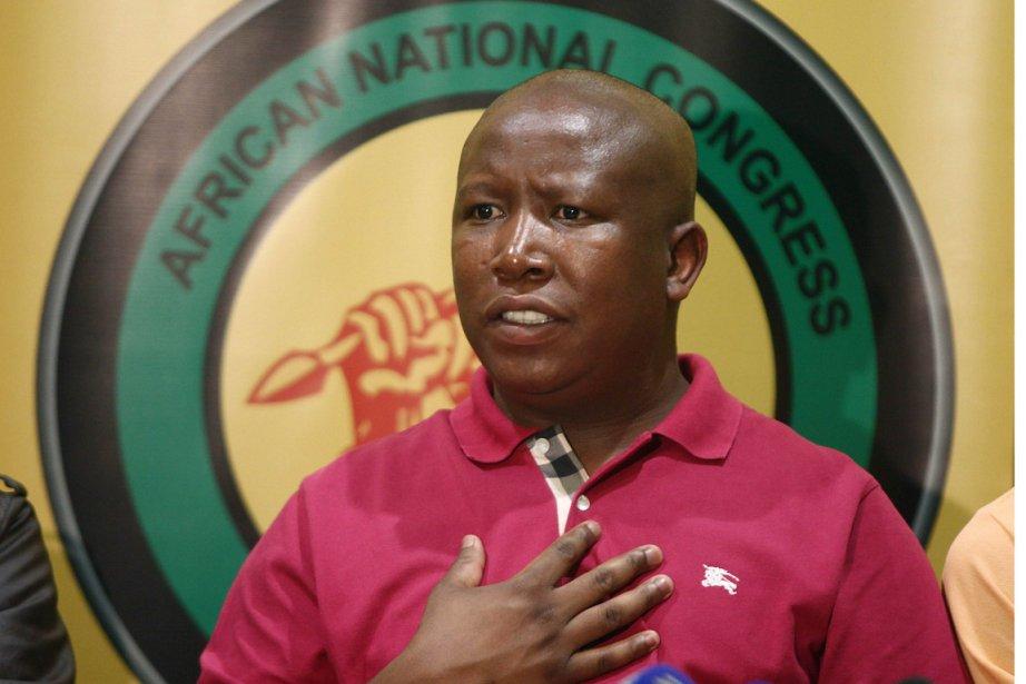 Le controversé chef de la Ligue jeunesse de... (Photo: Paballo Thekiso, AFP)