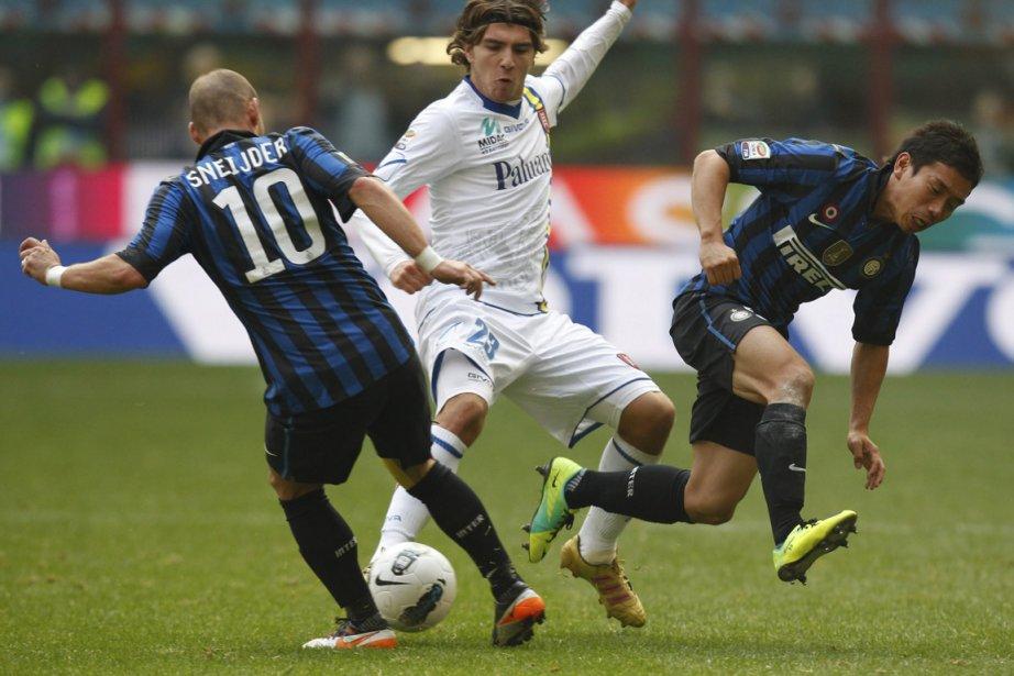 Match de l'Inter contre le Chievo, à Milan,... (Photo Luca Bruno, AP)