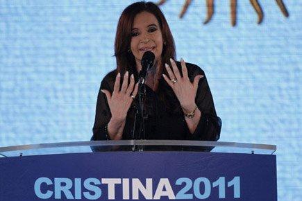 Cristina Kirchner, la présidente argentine réélue dimanche... (Photo: Reuters)