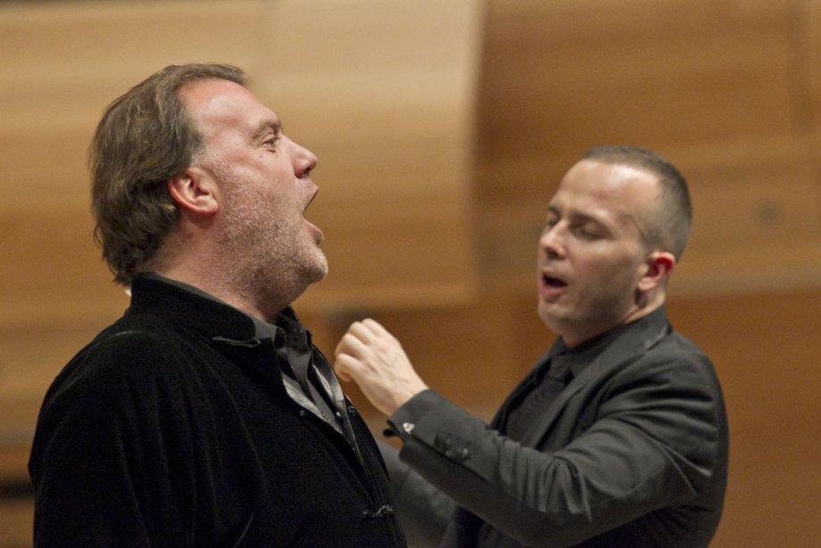 Bryn Terfel chante, Yannick dirige.... (Photo: Hugo-Sébastien Aubert, La Presse)