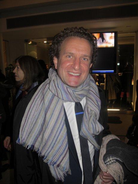 Daniel Brière  à la projection de ce film inspiré d'une pièce de théâtre écrite par sa conjointe, Evelyne de la Chenelière. | 27 juillet 2012