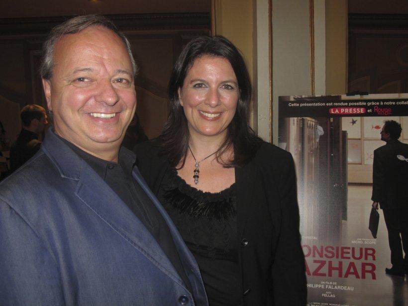 Christian Larouche, distributeur du film, accompagné de sa conjointe, la productrice et scénariste Caroline Héroux. | 27 juillet 2012