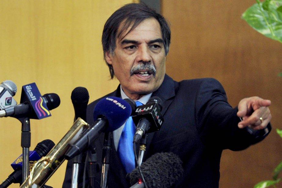 «Je demande à l'OTAN de rester au moins... (Photo: Esam Al-Fetori, Reuters)