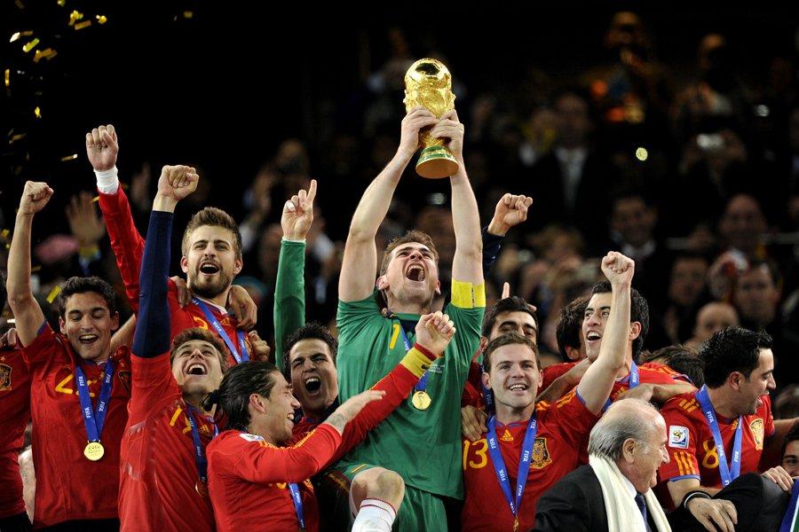 L'Espagne a remporté la dernière Coupe du monde... (Photo: AFP)