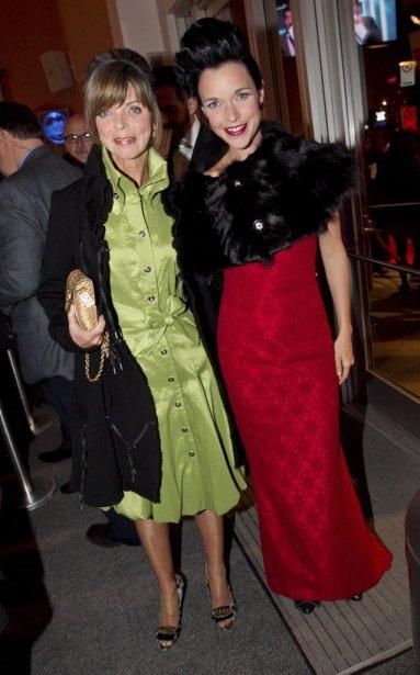 Brigitte Boisjoli et sa mère. | 30 octobre 2011