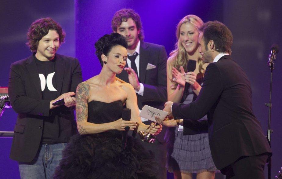 Brigitte Boisjoli a été sacrée Révélation de l'année. | 30 octobre 2011