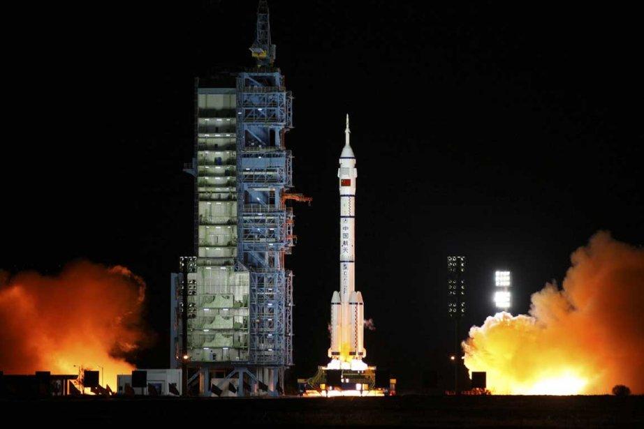 La fusée Longue Marche 5 actuellement en développement... (Photo Associated Press)