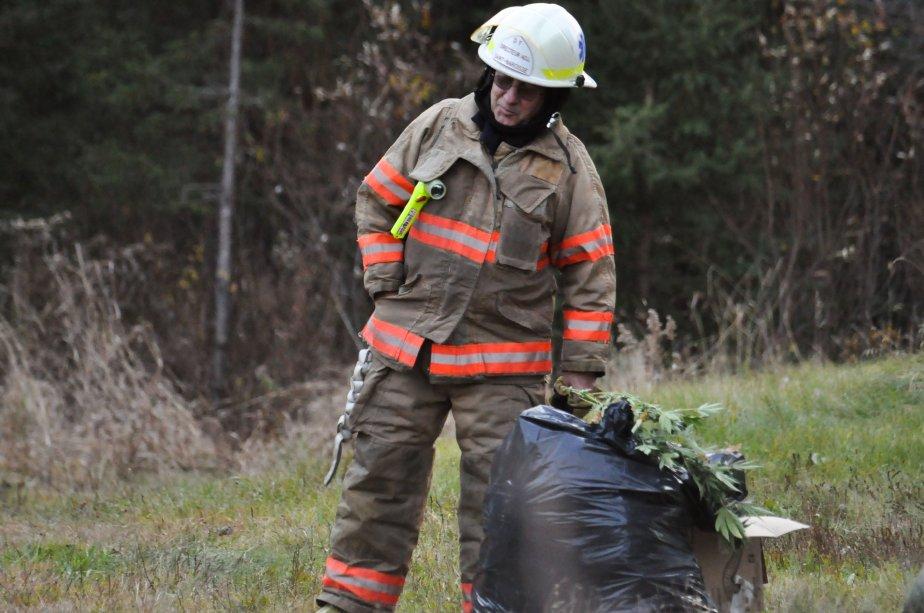 une dizaine de pompiers de Saint-Narcisse ont dû intervenir, notamment pour aller vérifier la solidité des lieux où les serres étaient dissimulées. | 3 novembre 2011
