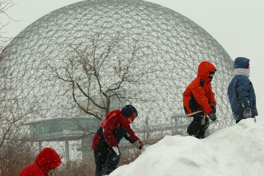 Des enfants jouent dans la neige au parc... (Photo: archives La Presse)
