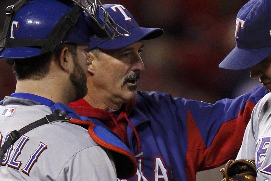 L'instructeur des lanceurs des Rangers du Texas, Mike... (Photo: Reuters)