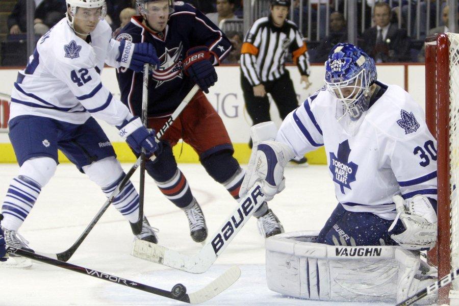Le gardien recrue des Maple Leafs Ben Scrivens... (Photo: Reuters)