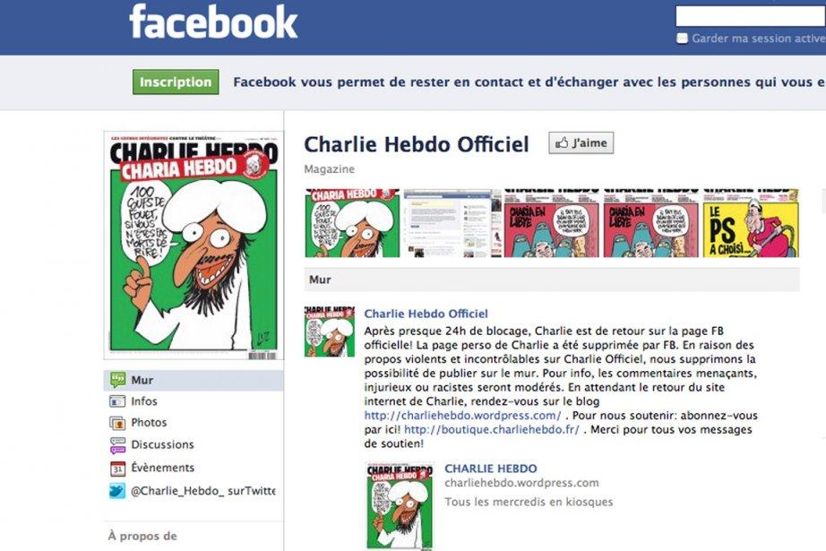 «La page de Charlie Hebdo reste accessible aux...