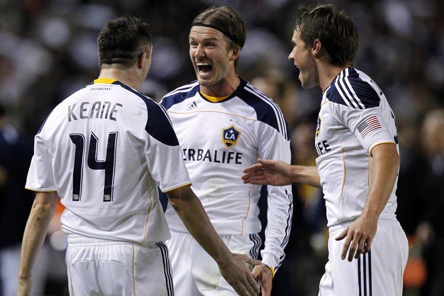Robbie Keane (à gauche), du Galaxy de Los... (Photo: Reuters)