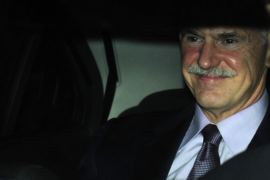 Le premier ministre grec sortant Georges Papandréou.... (Photo AFP)