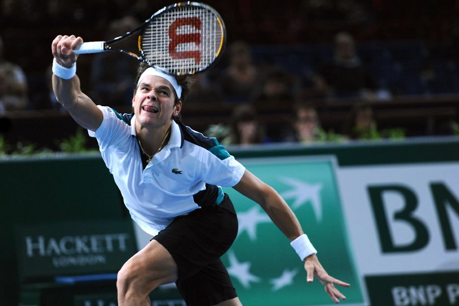 Milos Raonic s'est incliné 6-7 (5), 7-6 (5),... (Photo: AFP)