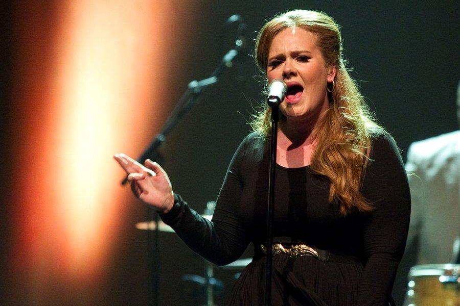 La chanteuse Adele lors de son spectacle à... (Photo: Hugo-Sébastien Aubert, La Presse)