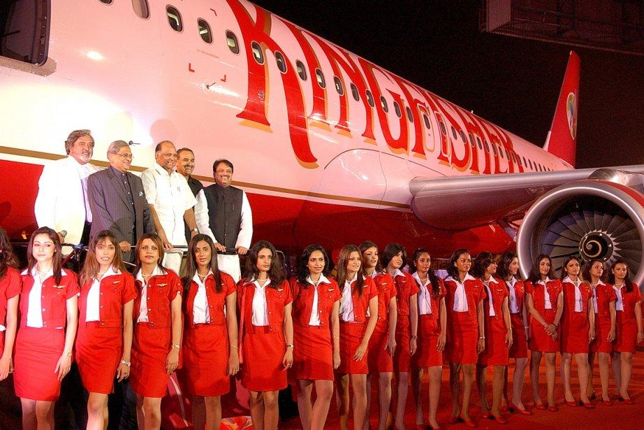 Des hôtesses de la compagnie aérienne indienne Kingfisher... (Photo: archives AFP)