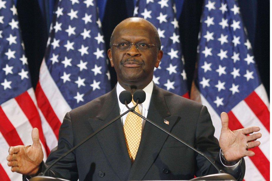 Herman Cain, candidat à l'investiture du Parti républicain,... (Photo: Joshua Lott, Reuters)