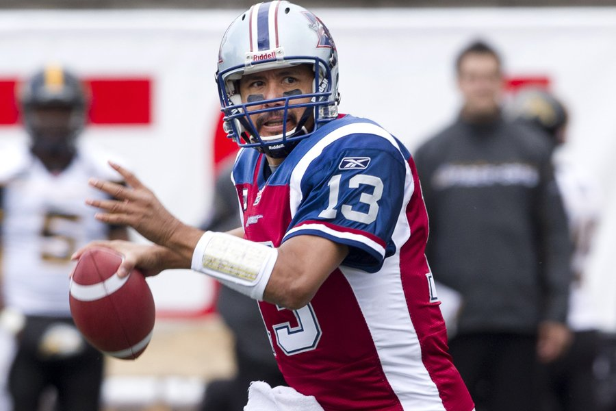 Anthony Calvillo a remporté le titre de joueur... (Photo: Robert Skinner, La Presse)