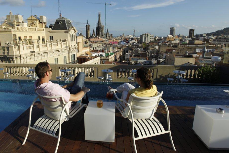 La terrasse de l'hôtel Ohla, dans le Barri... (Photo: Martin Chamberland, La Presse)